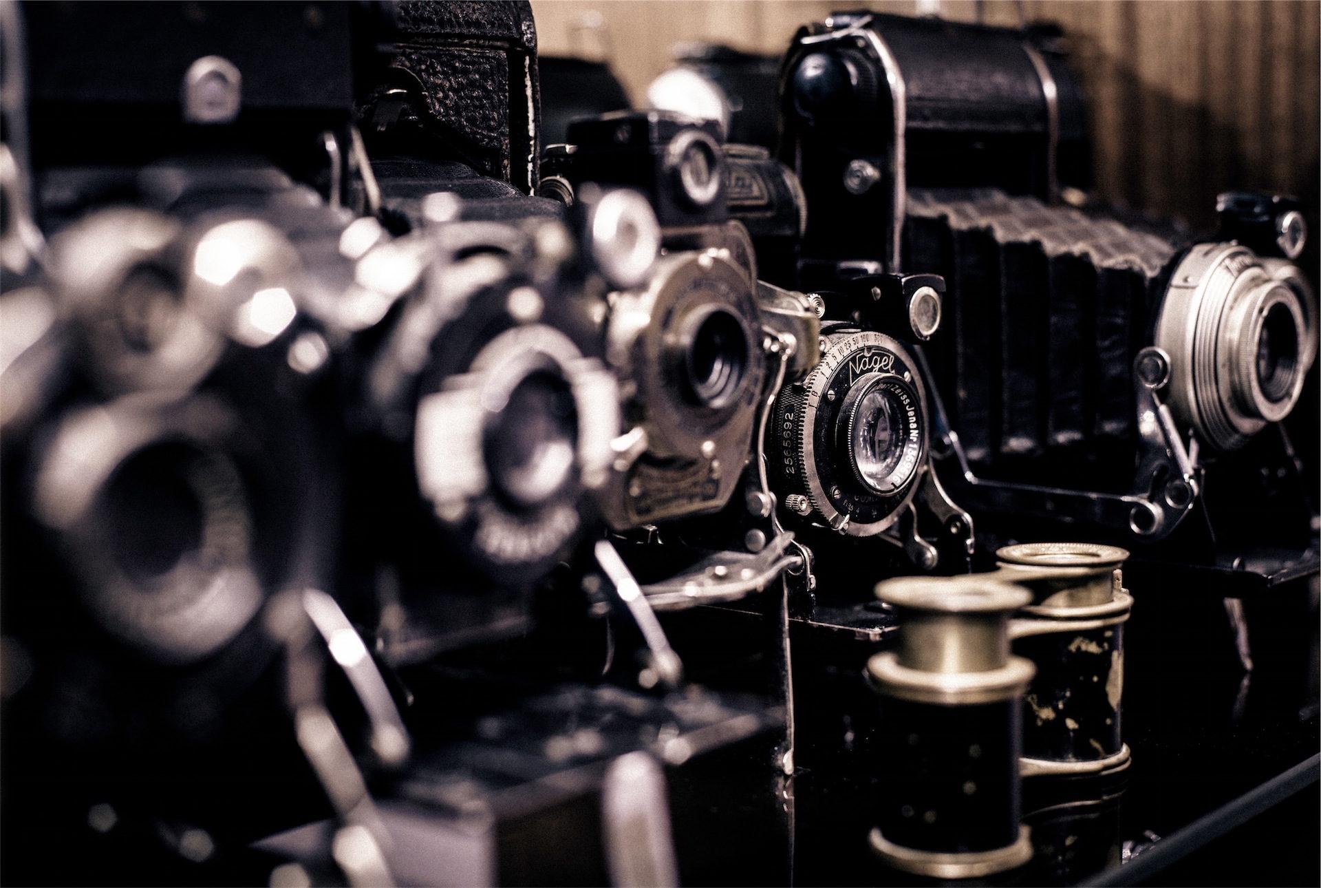 Фотокамеры, фотографии, древние, Винтаж, Катушка - Обои HD - Профессор falken.com