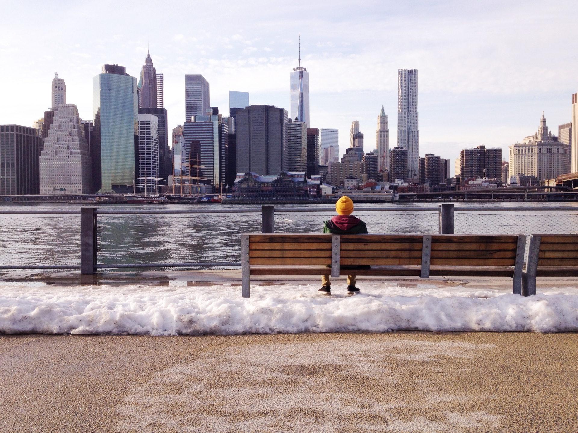 ciudad, asiento, banco, hombre, skyline - Fondos de Pantalla HD - professor-falken.com