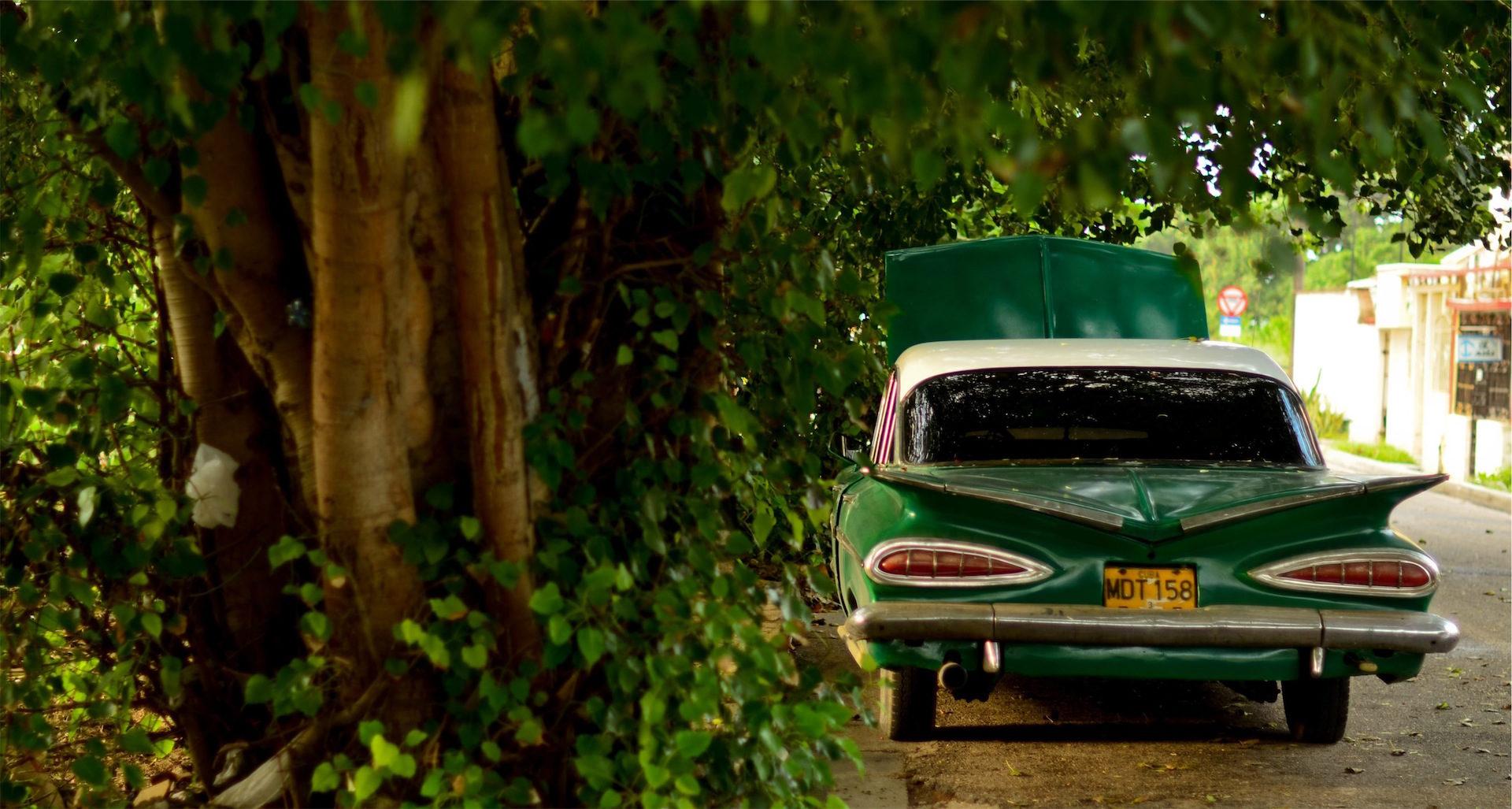 carro, velho, averia, vintage, Verde - Papéis de parede HD - Professor-falken.com