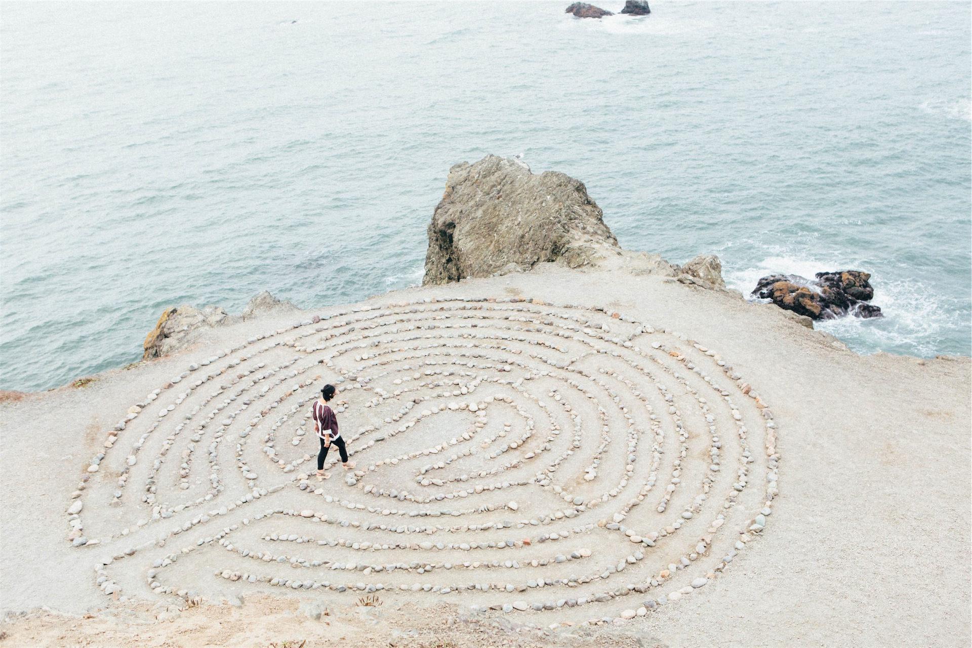 formas, figuras, piedras, mujer, mar - Fondos de Pantalla HD - professor-falken.com