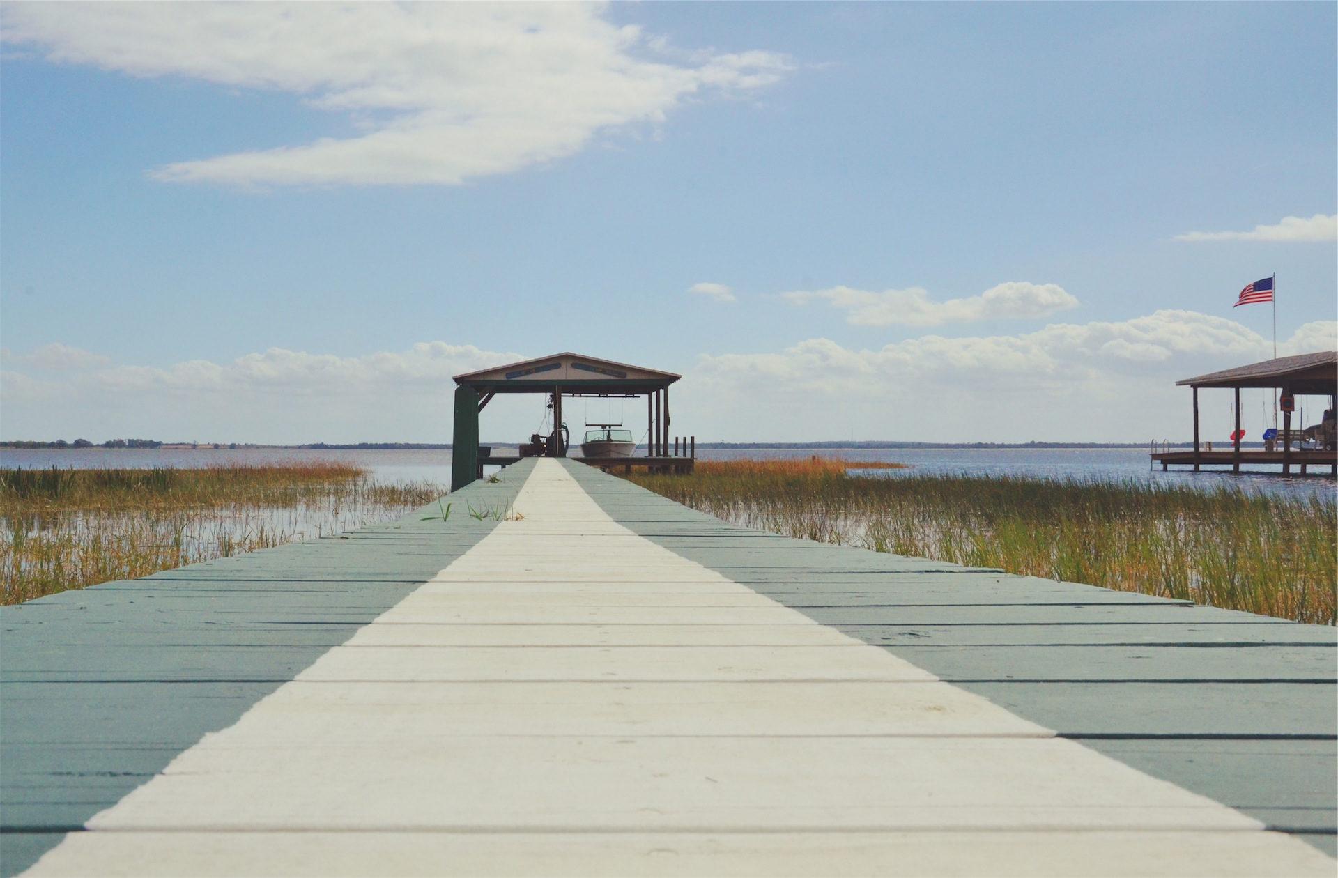 Весна, лодка, Озеро, Барка, столы - Обои HD - Профессор falken.com