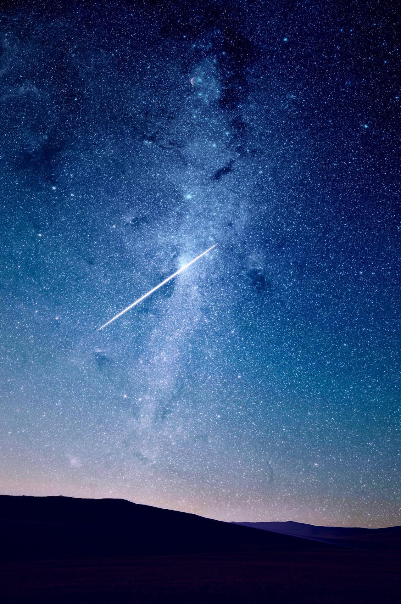 晚上, 天空, 星级, fugaz, deseo - 高清壁纸 - 教授-falken.com