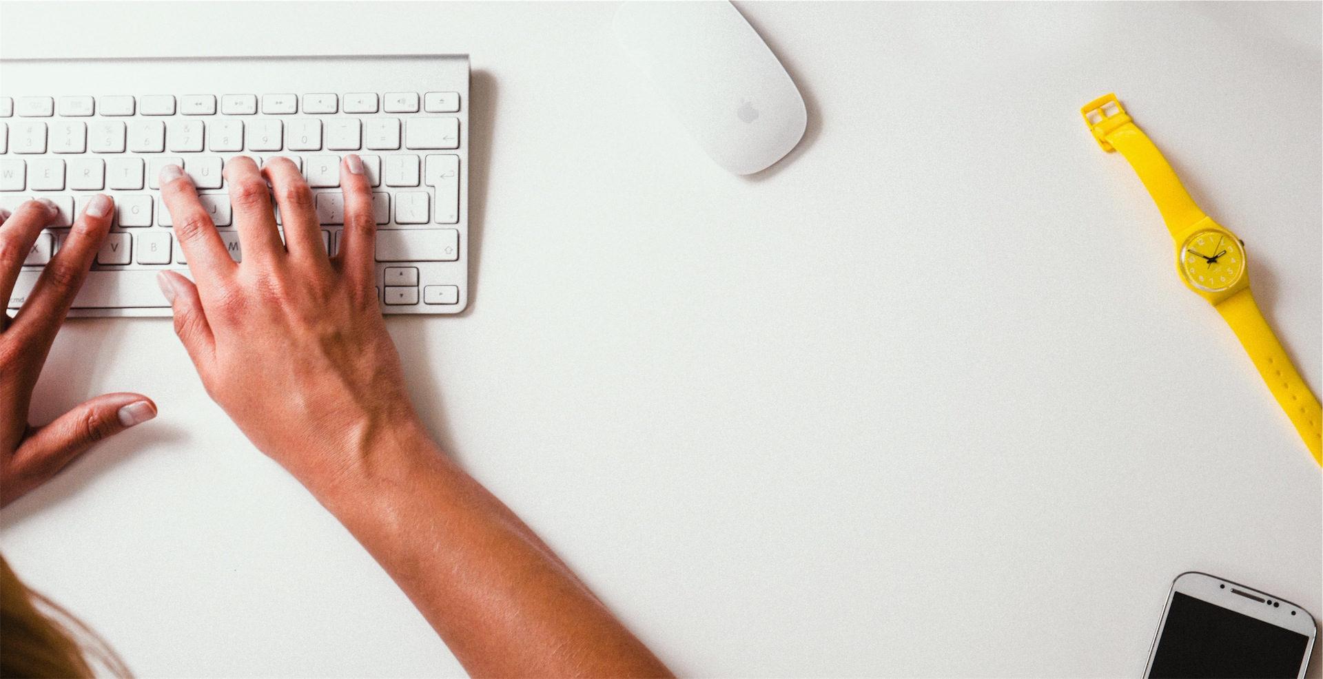 Escritório, trabalho, mãos, computador, Relógio - Papéis de parede HD - Professor-falken.com