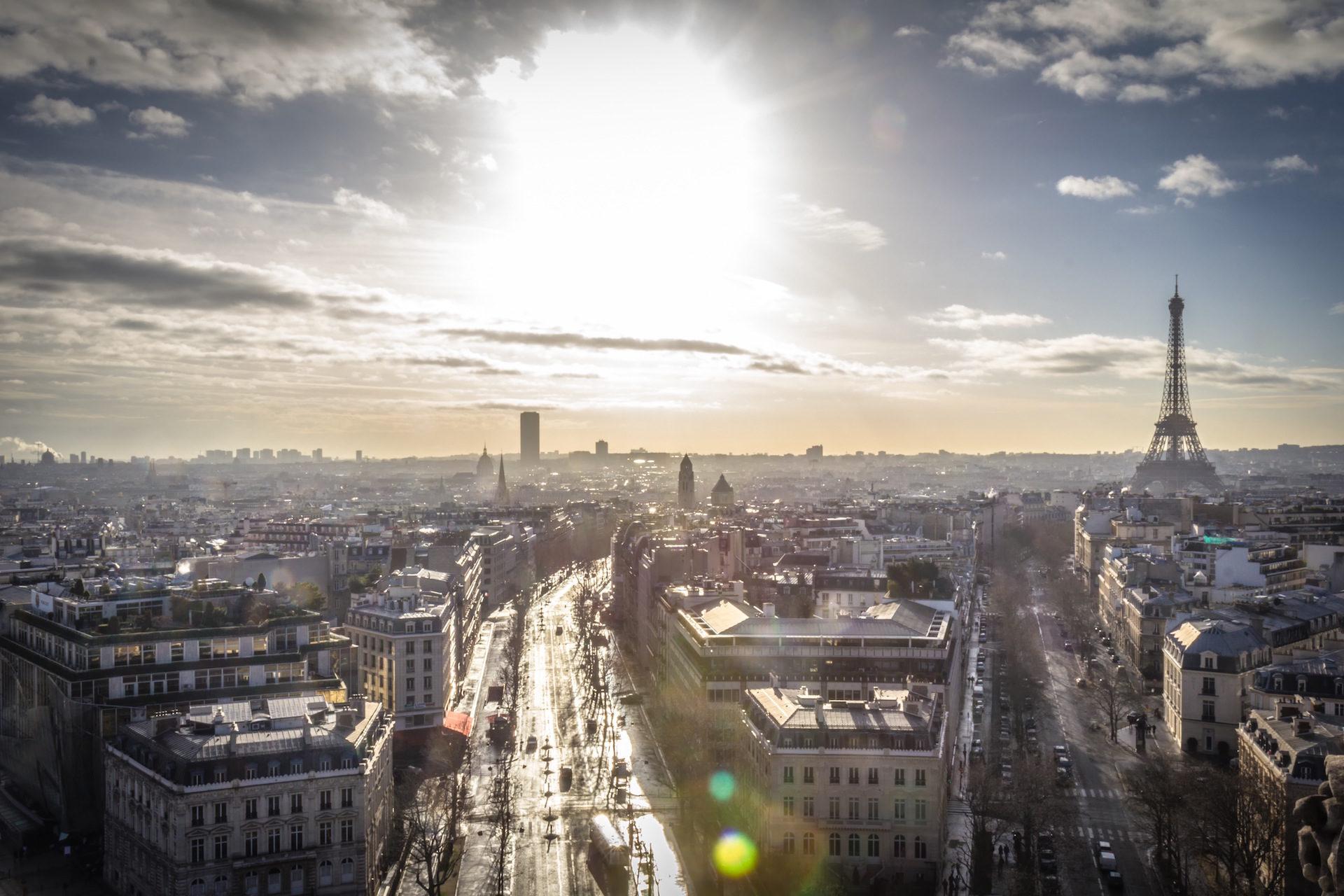 Париж, Франция, Башня, Eiffel, Солнце - Обои HD - Профессор falken.com
