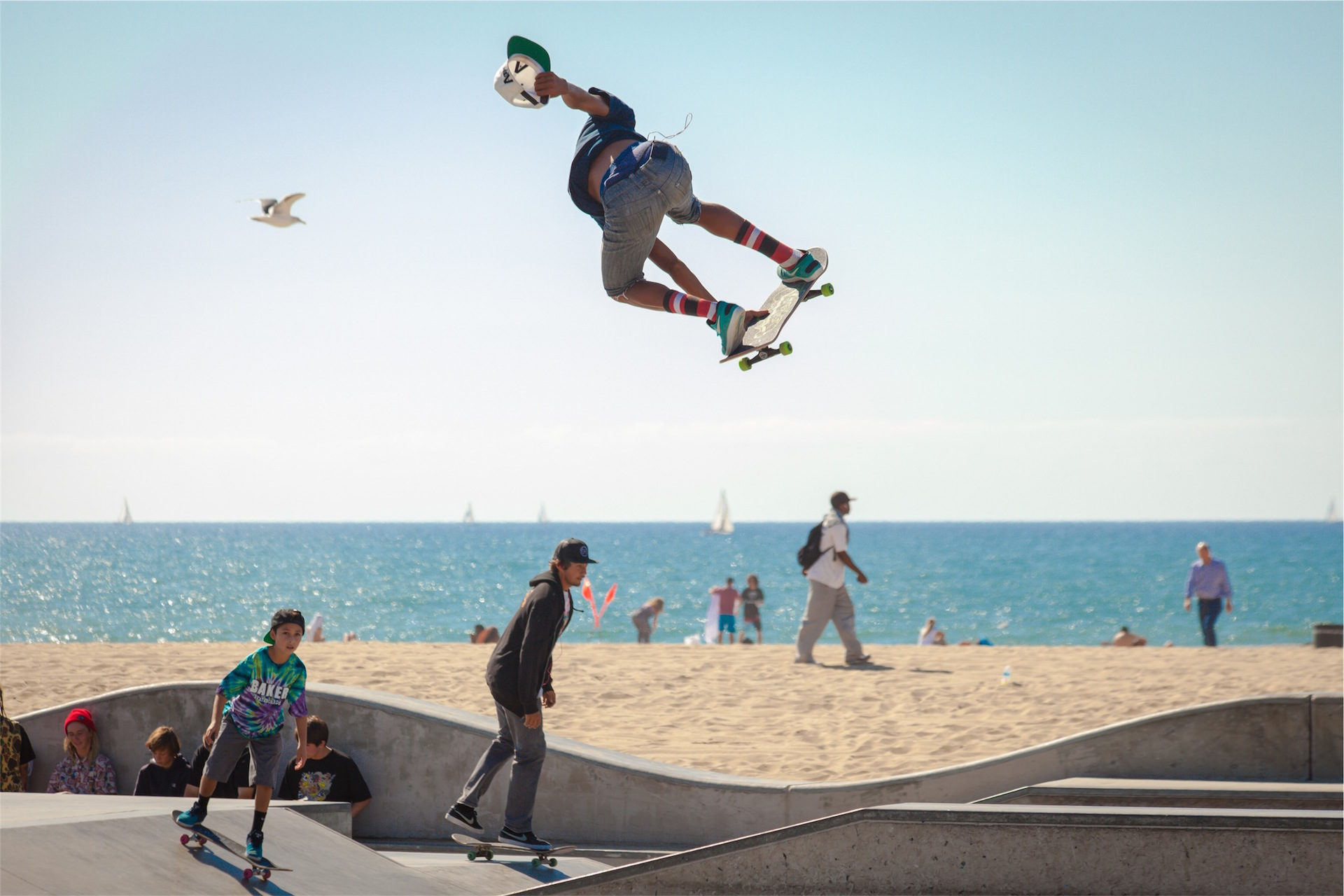 patinar, Кататься на коньках, Пляж, Солнце, Fun - Обои HD - Профессор falken.com