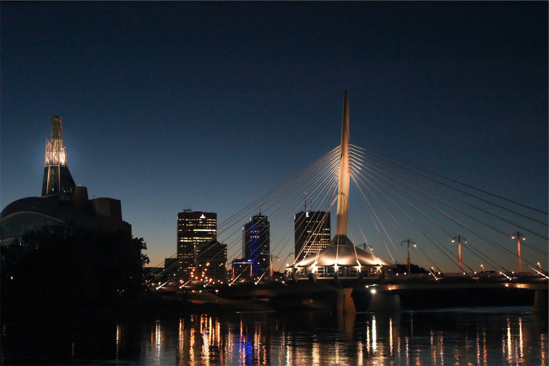 puente, anclajes, ciudad, noche, luces - Fondos de Pantalla HD - professor-falken.com