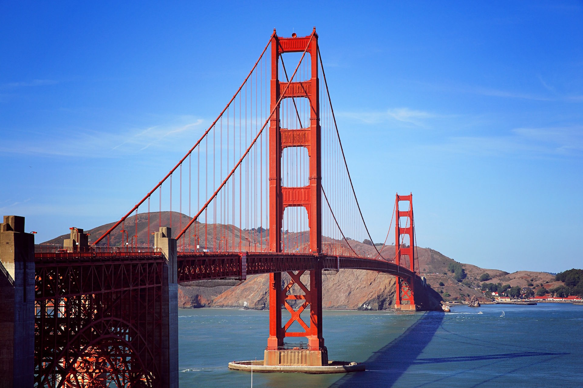 мост, Сан-Франциско, Небо, Монтаньяс, США - Обои HD - Профессор falken.com