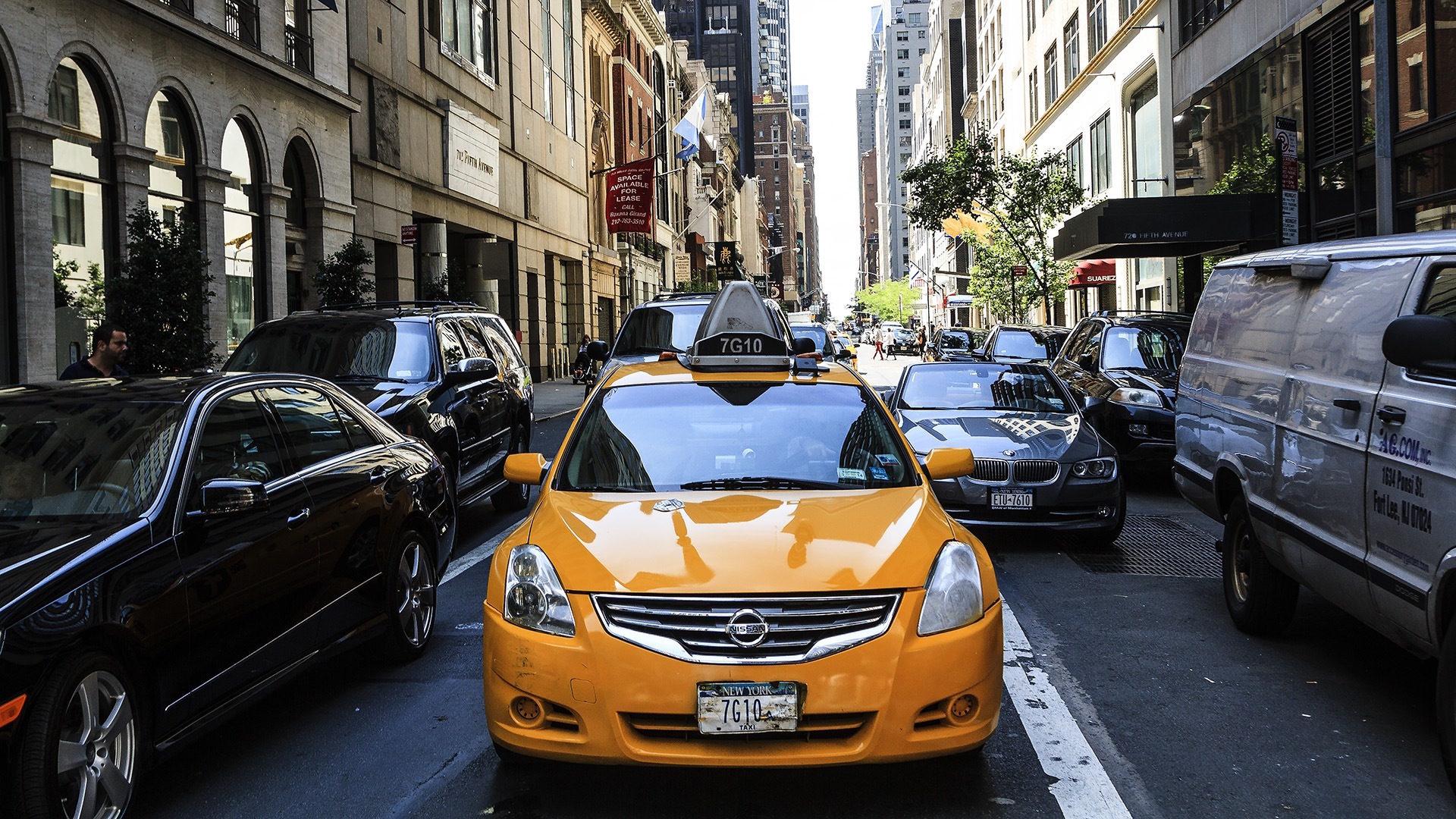 táxi, Nova Iorque, Cidade, Apple, América - Papéis de parede HD - Professor-falken.com