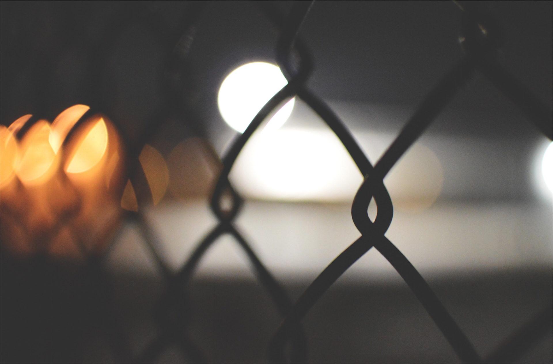 cerca, Com fio, metal, luzes, Borrão - Papéis de parede HD - Professor-falken.com