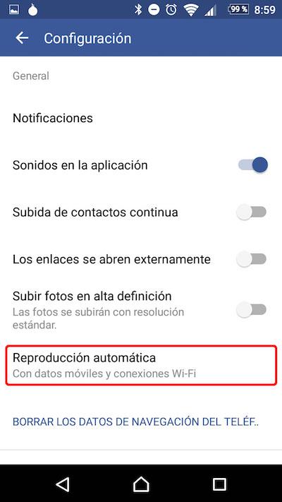 Como desativar a reprodução automática de vídeos no seu Android Facebook app - Imagem 3 - Professor-falken.com