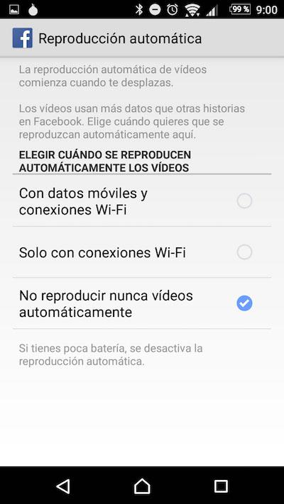 Como desativar a reprodução automática de vídeos no seu Android Facebook app - Imagem 4 - Professor-falken.com