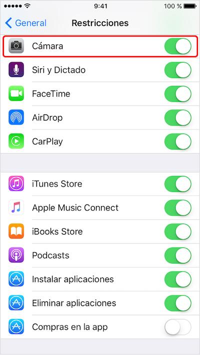 Comment activer ou désactiver l'accès à la caméra depuis l'écran de verrouillage sur votre iPhone avec iOS 10 Image 5 - Professor-falken.com