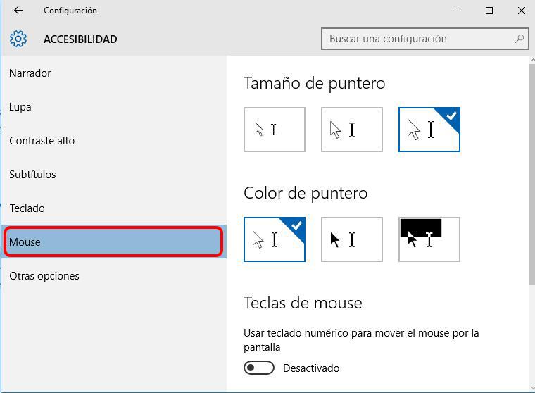 Come modificare la dimensione e il colore del mouse in Windows 10 - Immagine 2 - Professor-falken.com