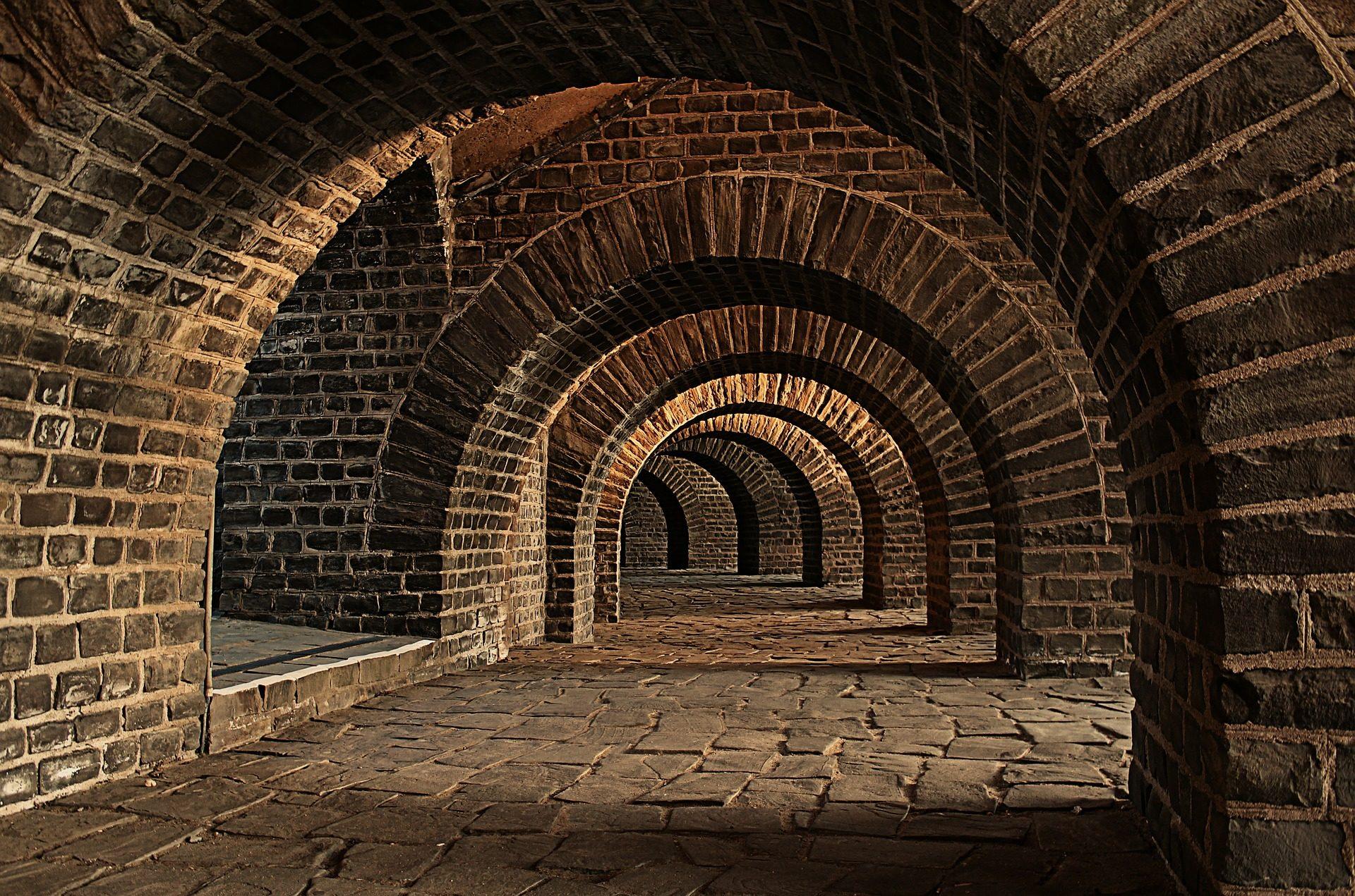 υπόγειους θαλάμους, σήραγγα, Arcos, τούβλα, Keller - Wallpapers HD - Professor-falken.com