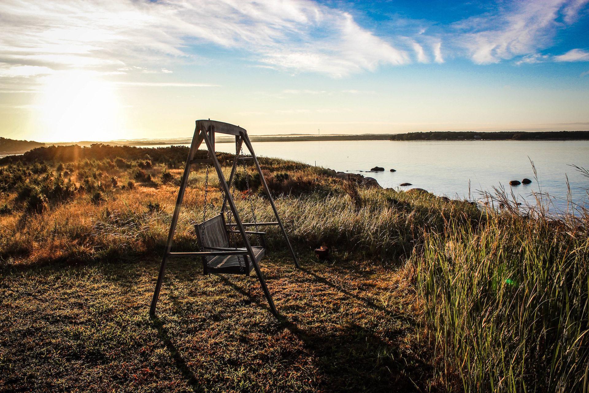balanço, assento, amanhecer, Lago, Relaxe - Papéis de parede HD - Professor-falken.com