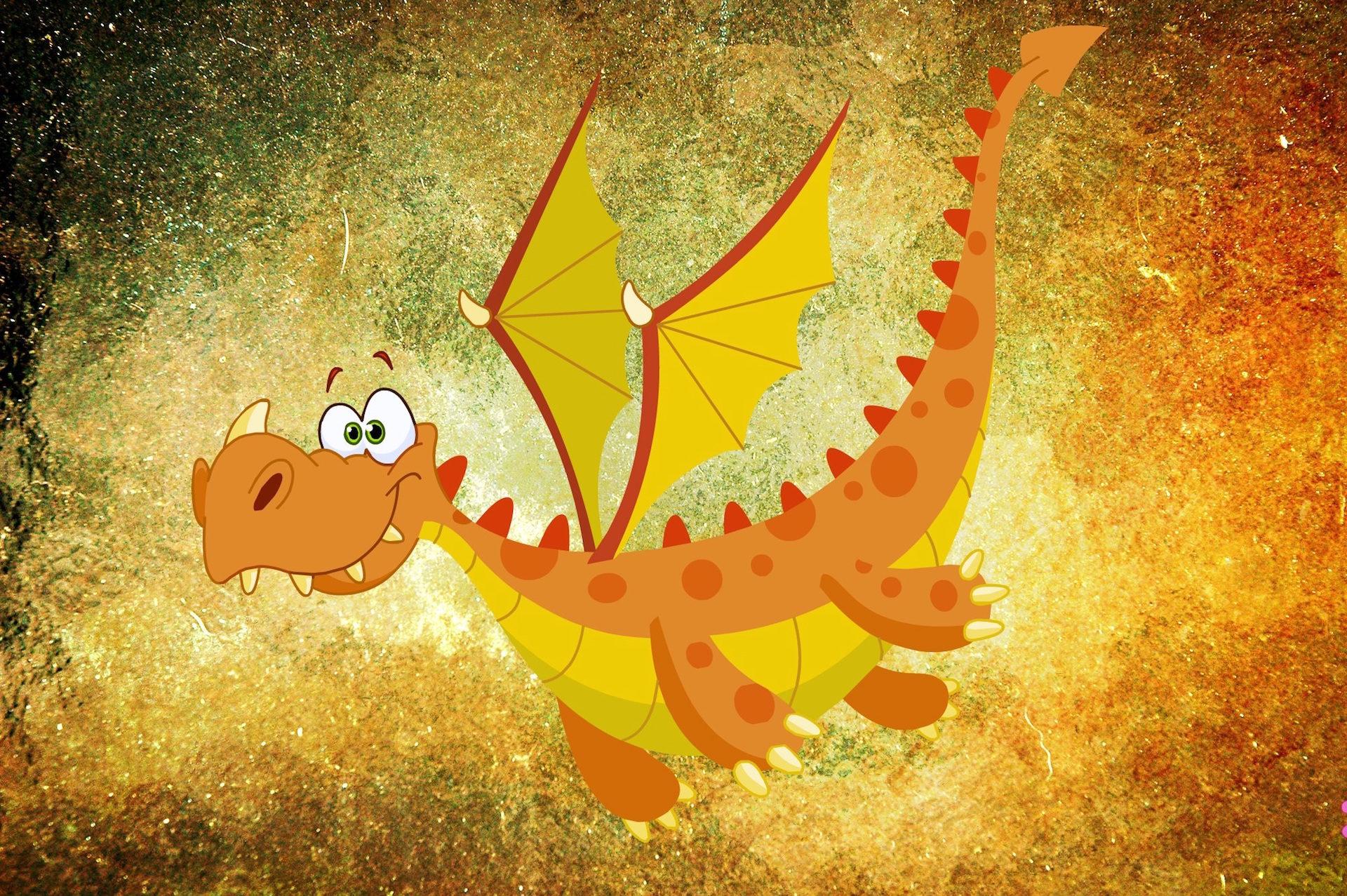 dragón, comic, 図面, monstruo, 翼 - HD の壁紙 - 教授-falken.com
