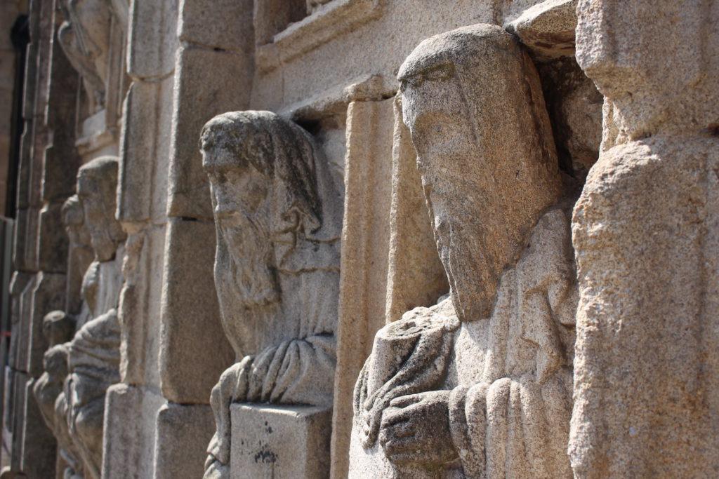 estatuas, piedra, figuras, catedral, santiago de compostela, 1610011603