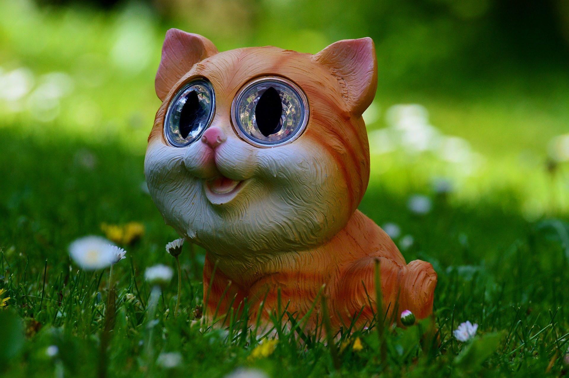 gato, luz, solar, adorno, jardín - Fondos de Pantalla HD - professor-falken.com