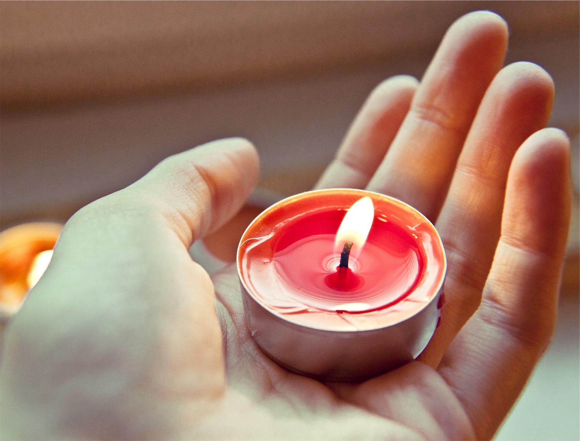 mano, candela, fuoco, chiamato, Rosso - Sfondi HD - Professor-falken.com