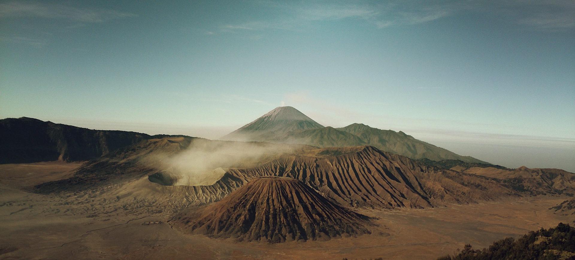 Montañas, Ηφαίστειο, αέρια, Ουρανός, σύννεφα - Wallpapers HD - Professor-falken.com