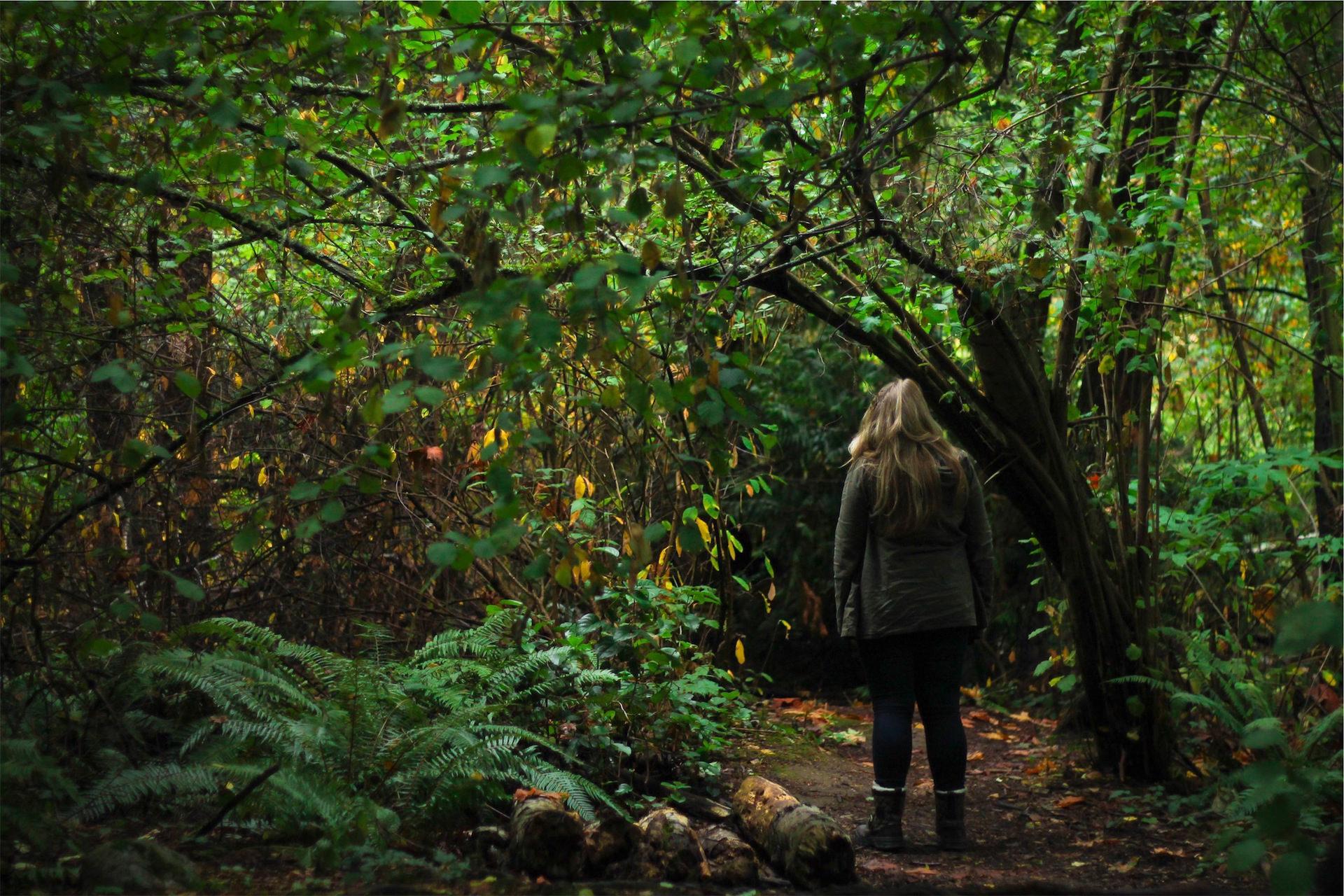 женщина, лес, джунгли, поле, Листва - Обои HD - Профессор falken.com