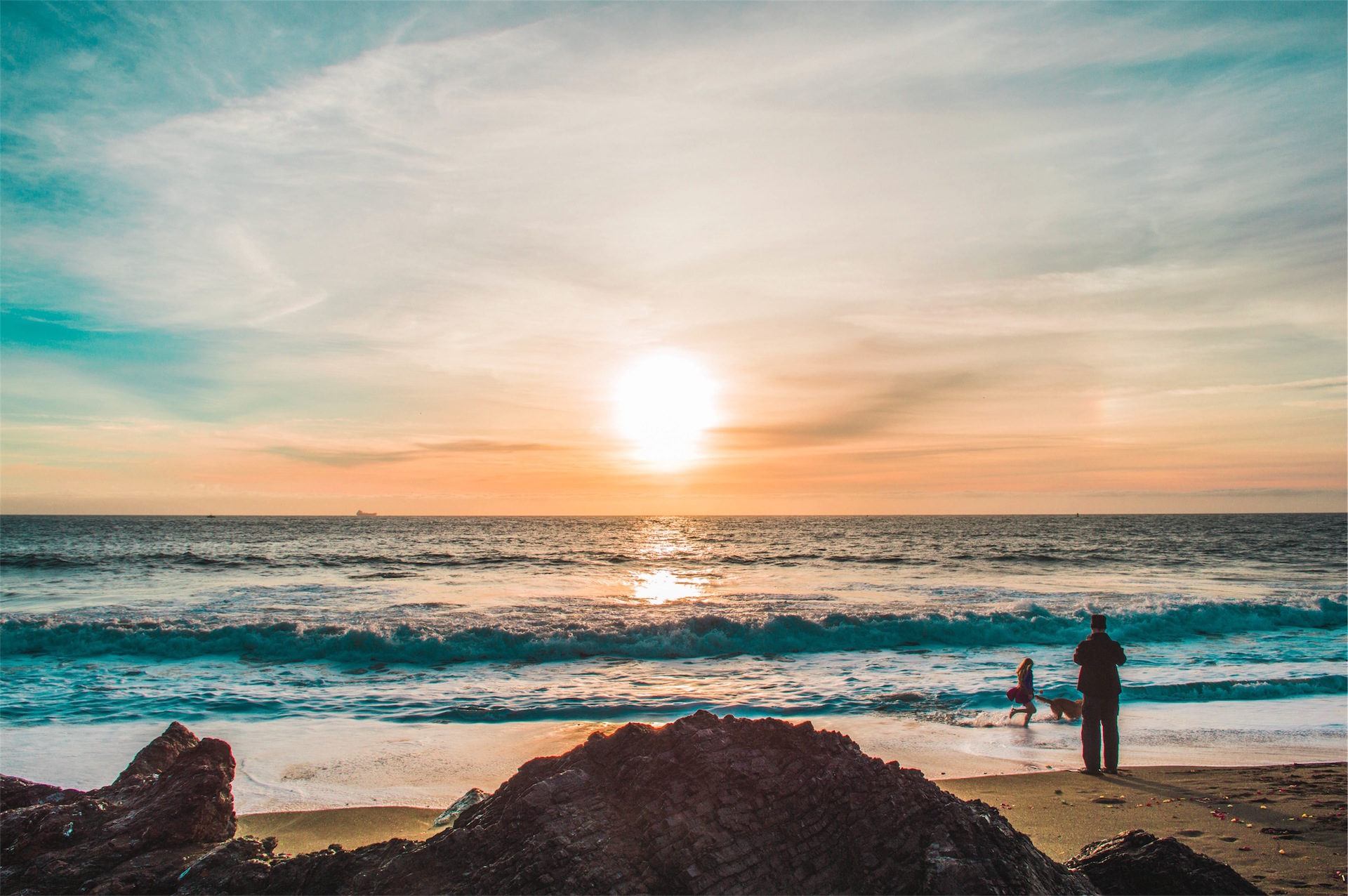 Пляж, Солнце, Закат, Море, игра - Обои HD - Профессор falken.com