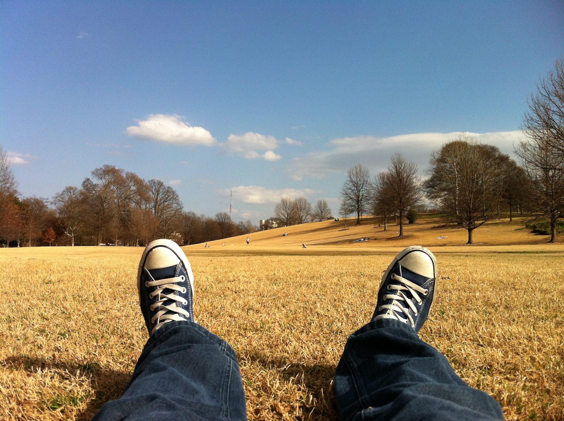Обувь, Отдых, Парк, трава, сухие - Обои HD - Профессор falken.com