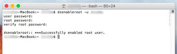 如何激活 Mac OS X 中的 root 用户 - 图像 1 - 教授-falken.com