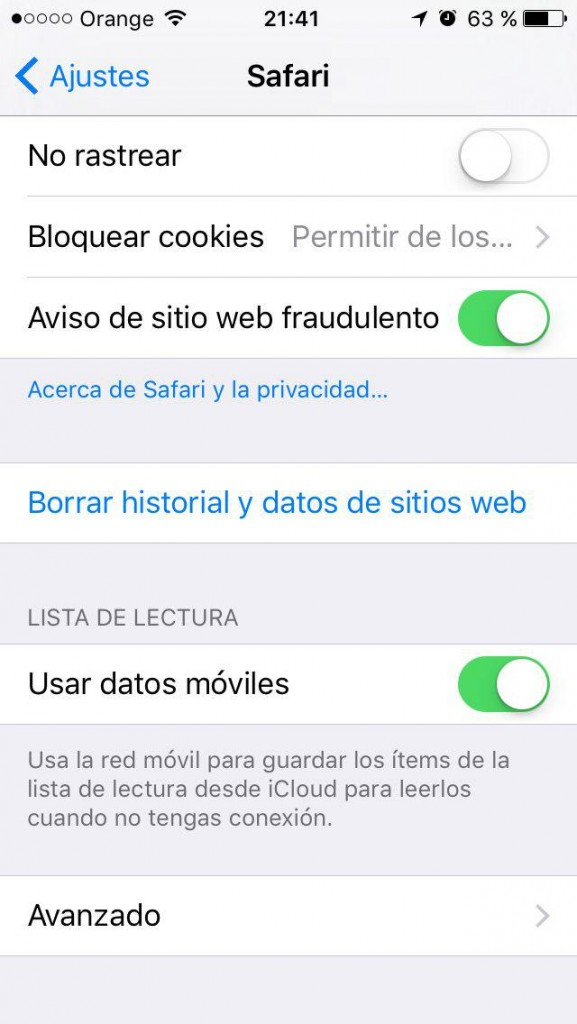 Come eliminare la cronologia, la cache e i cookie, e Sfoglia privatamente in Safari su iPhone - Immagine 3 - Professor-falken.com