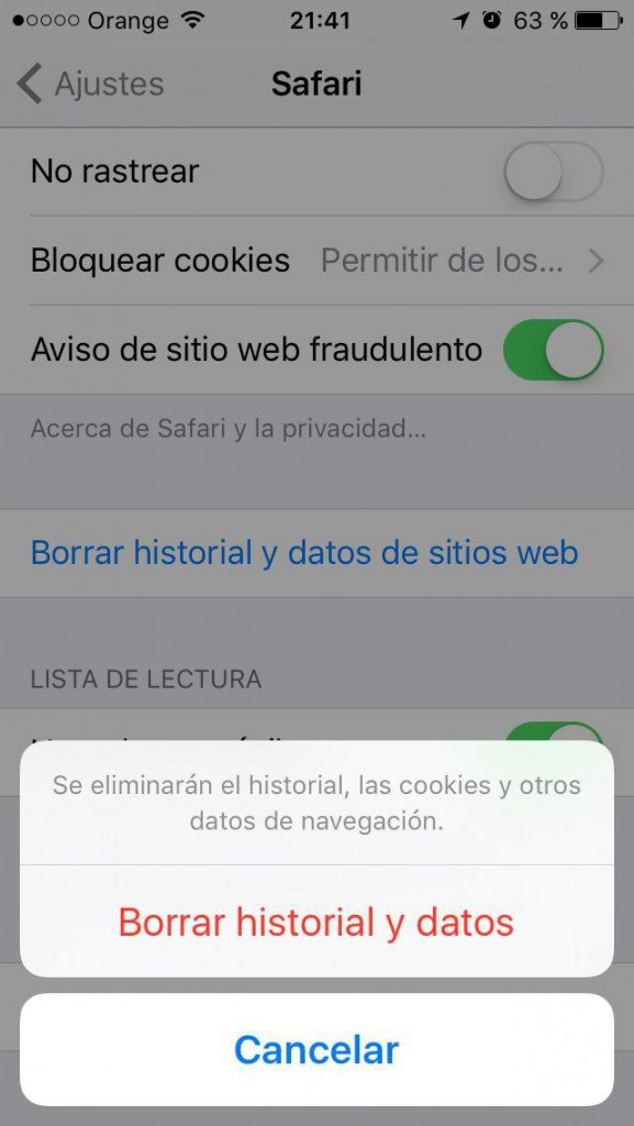 Come eliminare la cronologia, la cache e i cookie, e Sfoglia privatamente in Safari su iPhone - Immagine 4 - Professor-falken.com