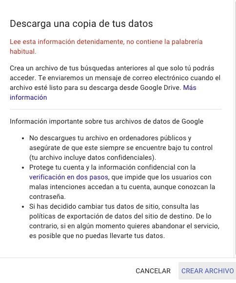 Cómo descargarte tu historial de búsquedas en Google - Image 3 -professor-falken.com