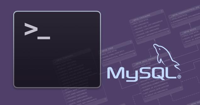 एक MySQL डेटाबेस कमांड लाइन से निकालने के लिए कैसे