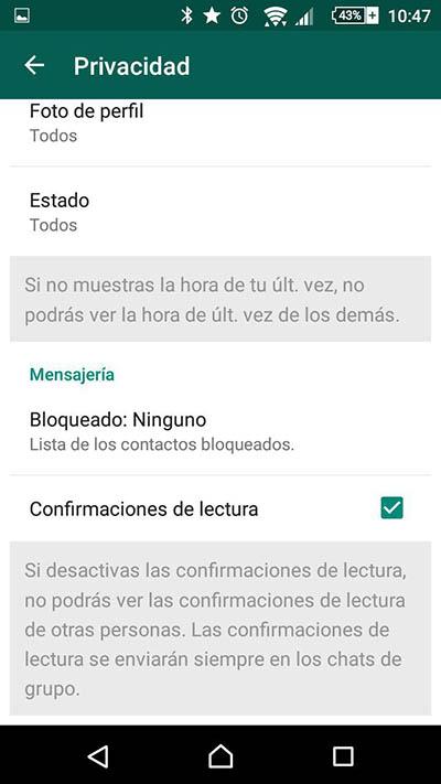 كيفية قراءة رسالة WhatsApp دون معرفة المرسل. تعطيل تدقيق زرقاء مزدوجة - الصورة 2 - أستاذ falken.com