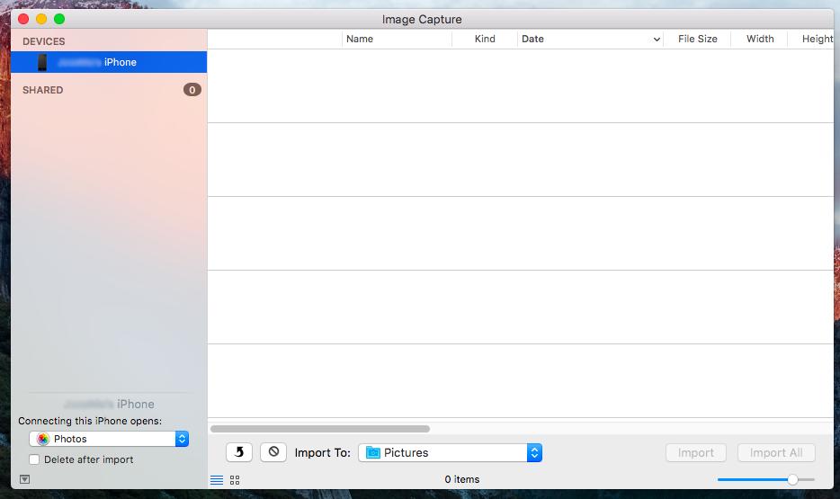कैमरा या iPhone कनेक्ट करने के लिए अपने मैक अनुप्रयोग की तस्वीरें खोलने रोक - छवि 2 - प्रोफेसर-falken.com