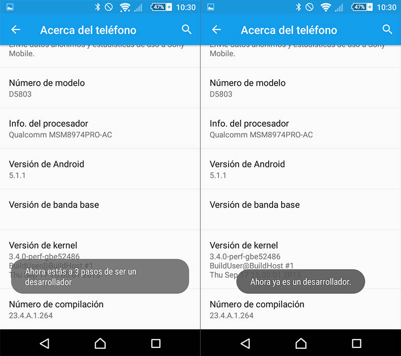 Comment faire pour activer le menu des options sur Android Developer - Image 3 - Professor-falken.com
