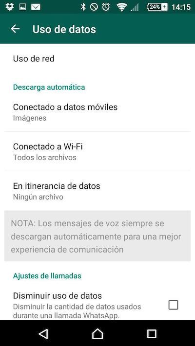 Как настроить WhatsApp Скачиваний избежать потребления вашу скорость передачи данных - Изображение 3 - Профессор falken.com