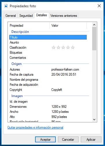 Comment faire pour supprimer les informations personnelles et sensibles de vos photos dans Windows 10 - Image 2 - Professor-falken.com