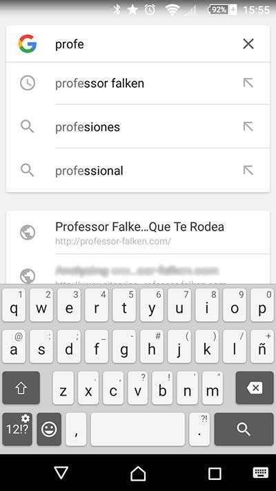 Cómo eliminar tus búsquedas recientes en Google en tu teléfono móvil Android - Image 2 - professor-falken.com