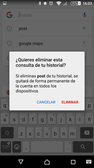 Cómo eliminar tus búsquedas recientes en Google en tu teléfono móvil Android - Image 3 - professor-falken.com