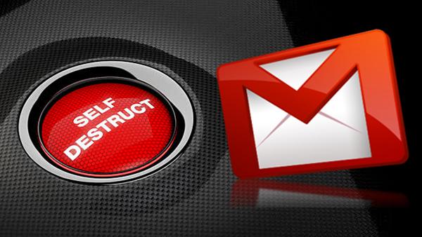 Как послать emails что самоуничтожения с GMail