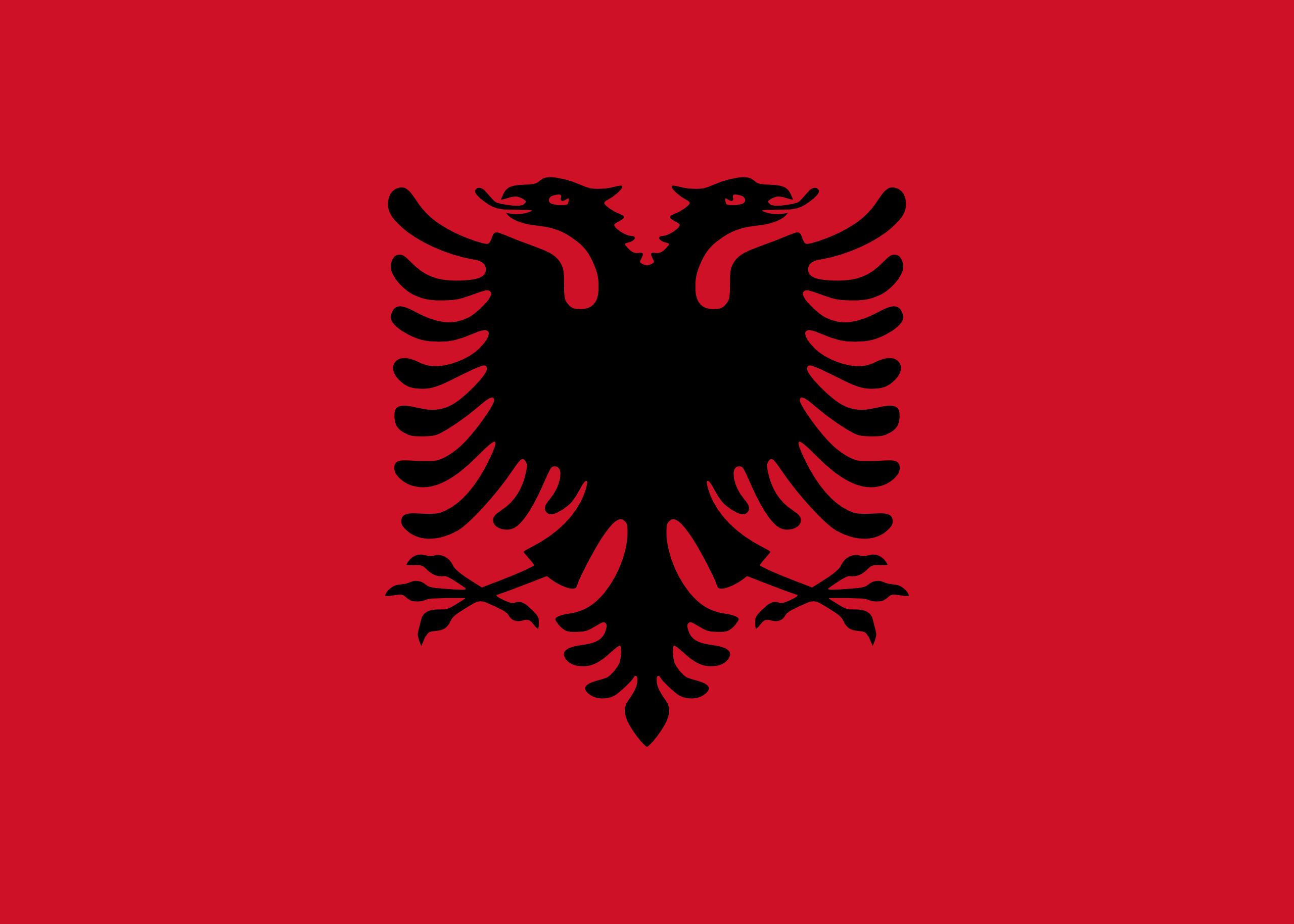 Albânia, país, Brasão de armas, logotipo, símbolo - Papéis de parede HD - Professor-falken.com