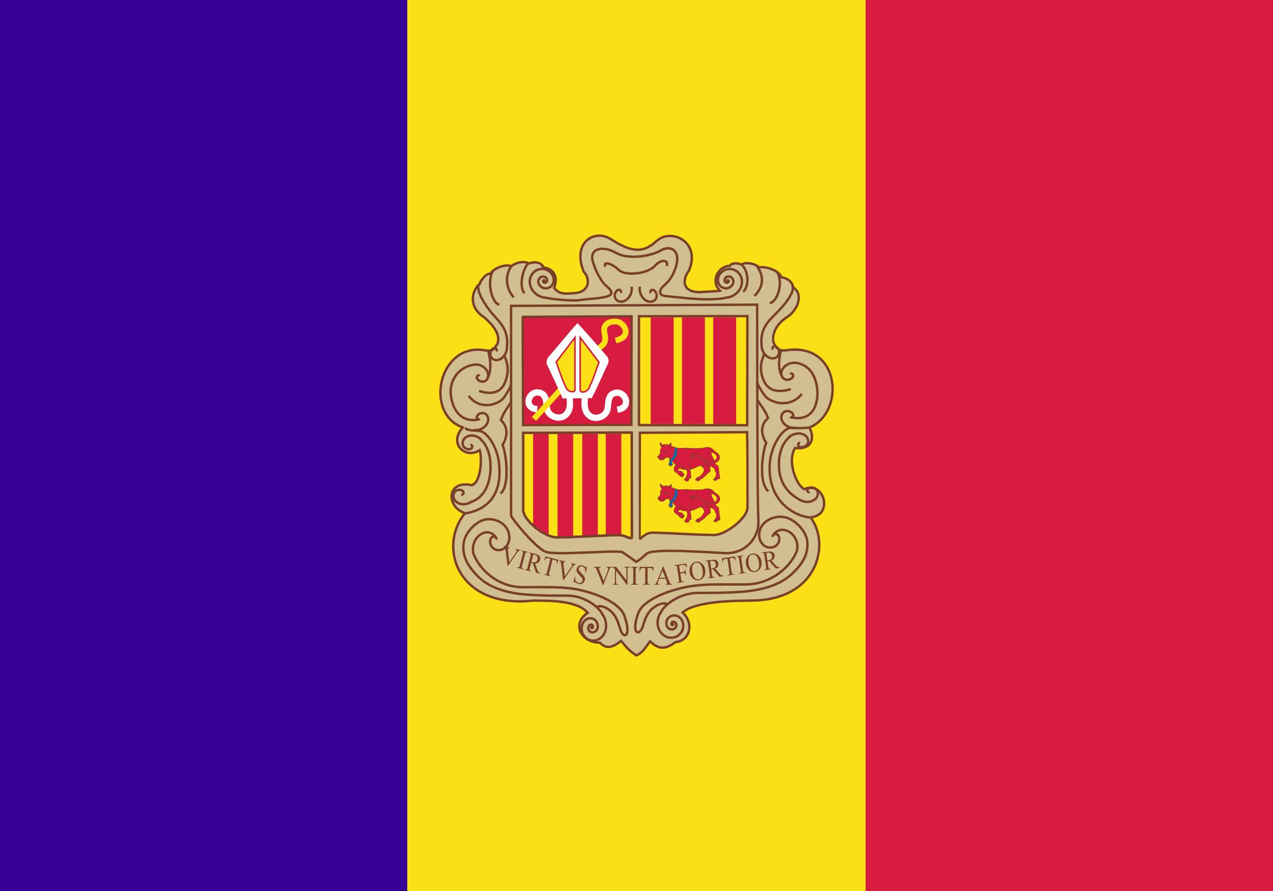Andorra, Land, Emblem, Logo, Symbol - Wallpaper HD - Prof.-falken.com