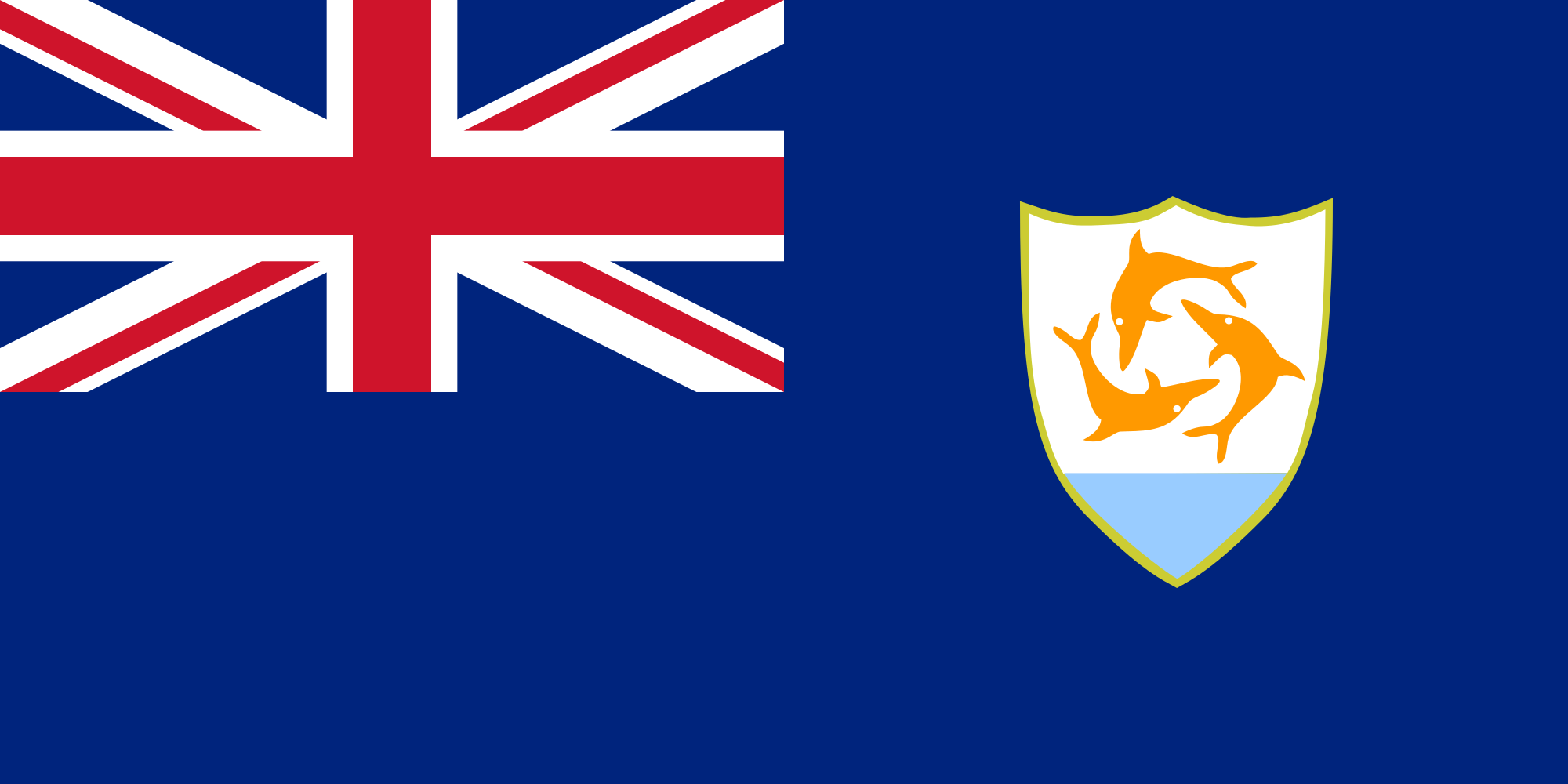 Anguilla, paese, emblema, logo, simbolo - Sfondi HD - Professor-falken.com