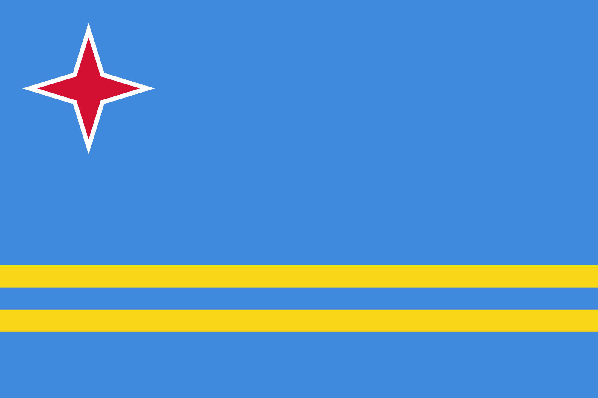 Aruba, pays, emblème, logo, symbole - Fonds d'écran HD - Professor-falken.com