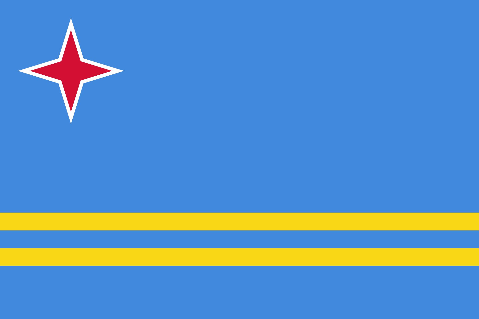 Aruba, paese, emblema, logo, simbolo - Sfondi HD - Professor-falken.com