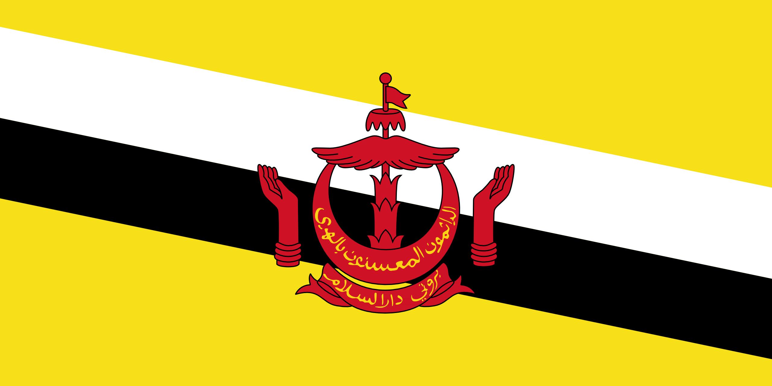 brunéi, país, emblema, insignia, símbolo - Fondos de Pantalla HD - professor-falken.com