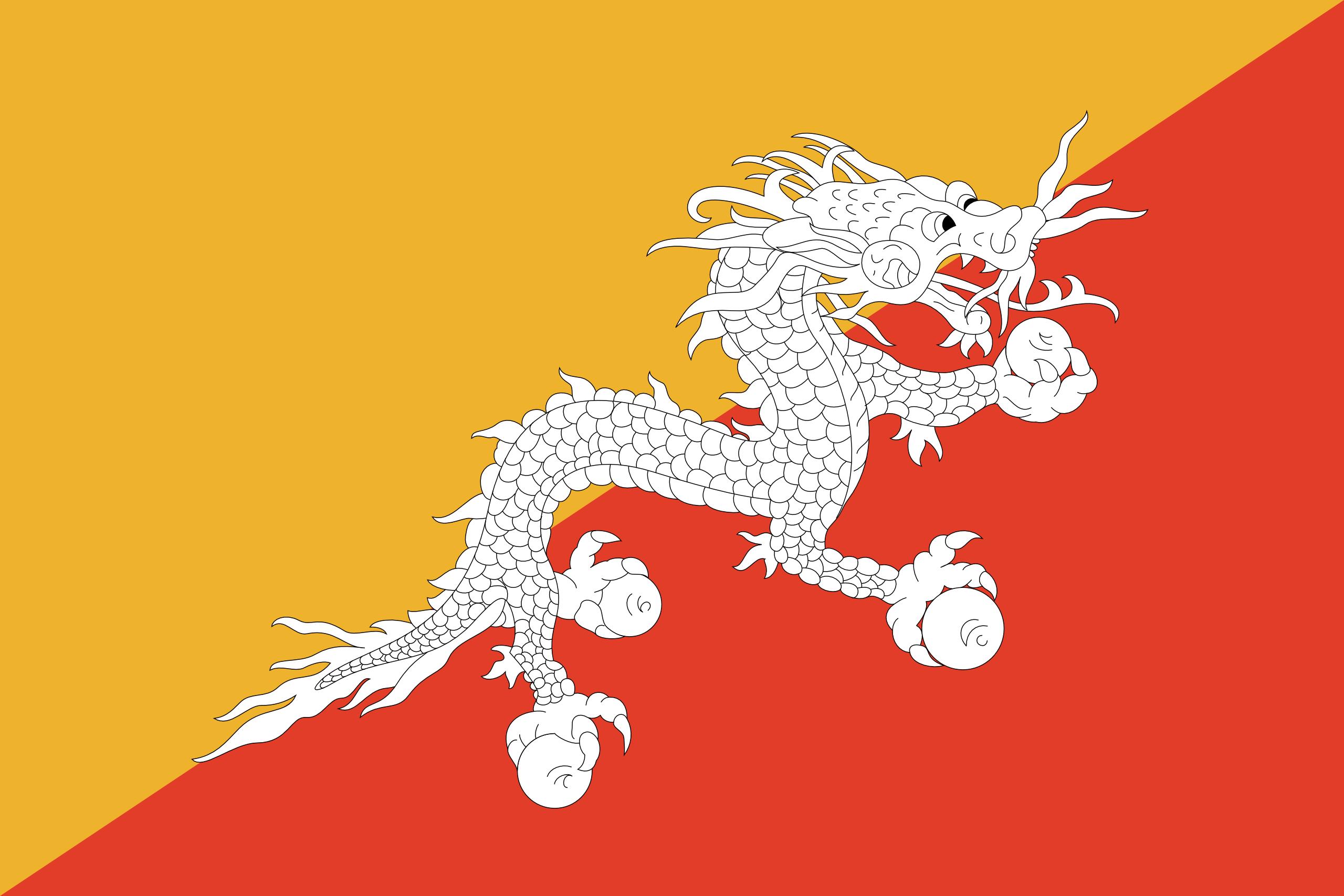 Бутан, страна, Эмблема, логотип, символ - Обои HD - Профессор falken.com