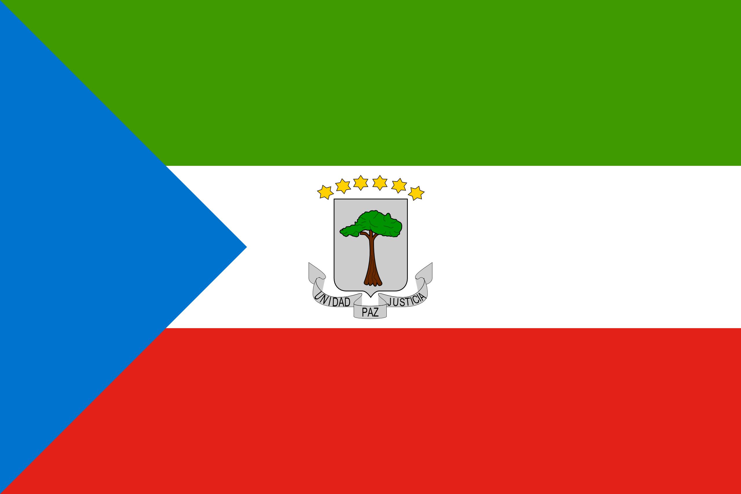 Guiné Equatorial, país, Brasão de armas, logotipo, símbolo - Papéis de parede HD - Professor-falken.com