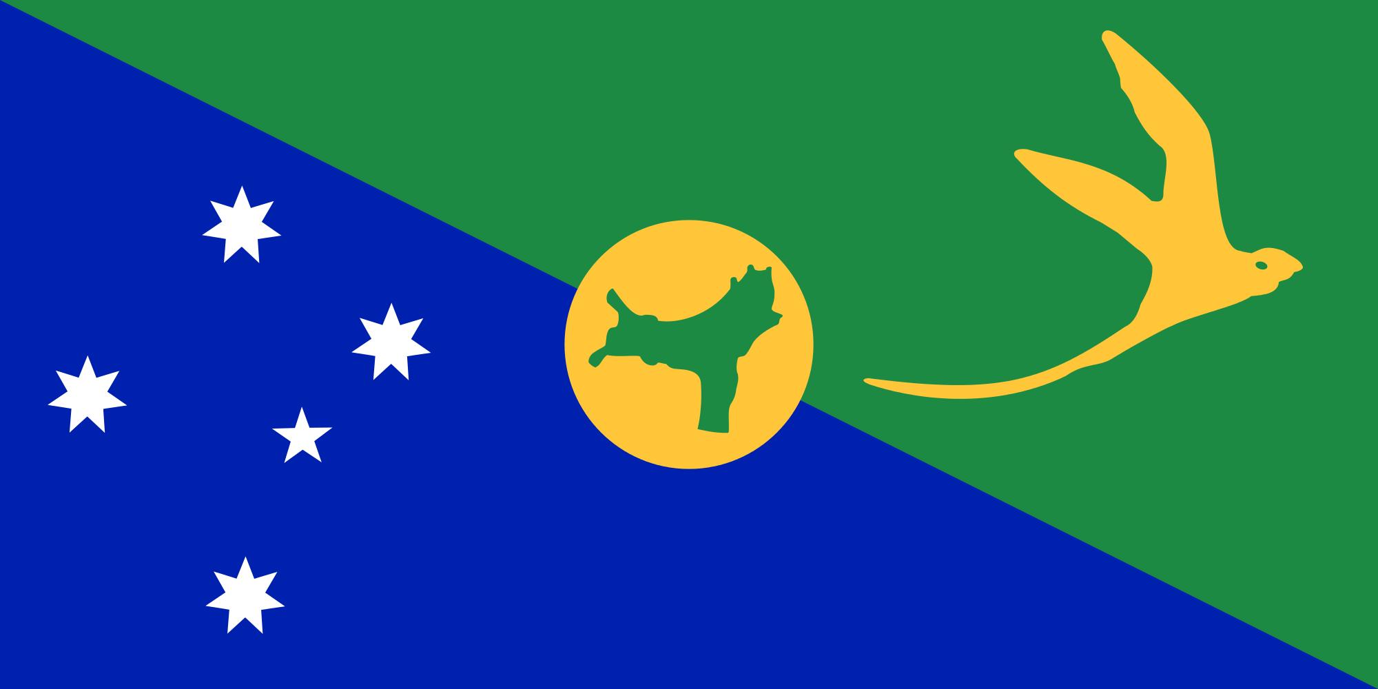 Isola di Natale, paese, emblema, logo, simbolo - Sfondi HD - Professor-falken.com