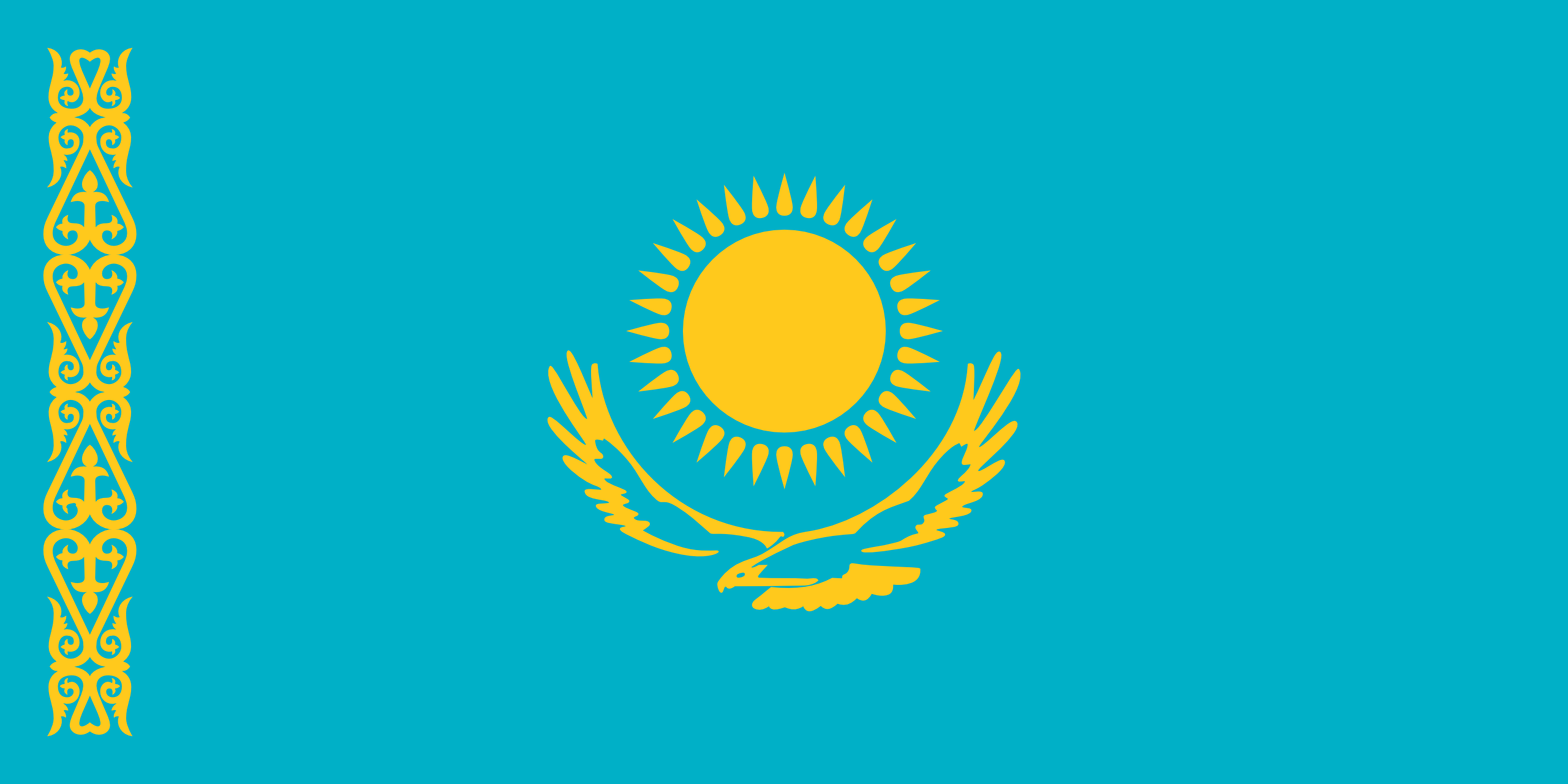 Cazaquistão, país, Brasão de armas, logotipo, símbolo - Papéis de parede HD - Professor-falken.com
